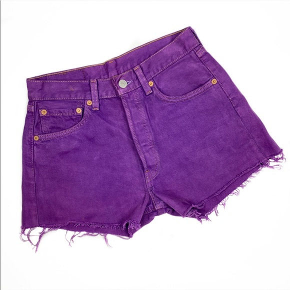 Levi's 501 Vintage High Rise Denim Cut Off Shorts